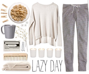 outfit, Lazy, and white image