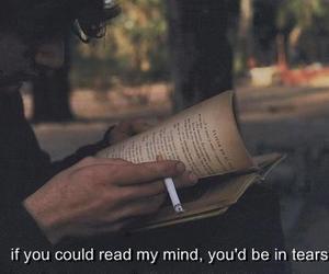 alone, books, and crying image