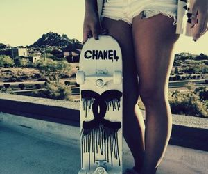 chanel, girl, and skate image