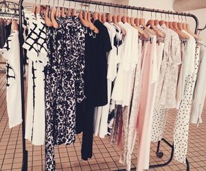 clothes, clothes rack, and fashion image