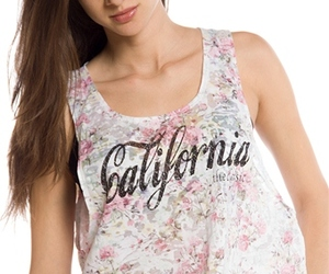 muscle tank, california muscle tank, and floral print muscle tank image