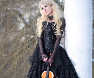 model, photography, and violin image
