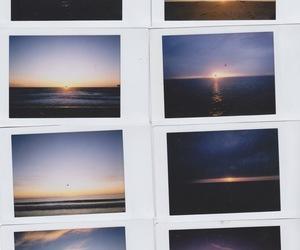 sunset, photography, and polaroid image