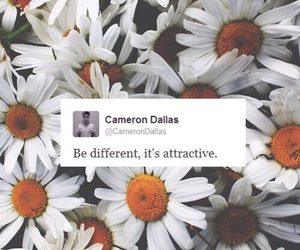 cameron dallas, different, and flowers image
