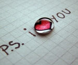 Letter, heart, and love image