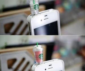 iphone, starbucks, and cool image