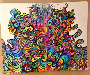 art, psychedelic, and trippy image