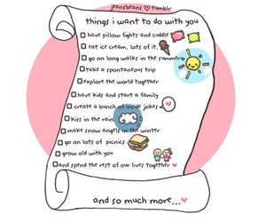 cute, love, and list image