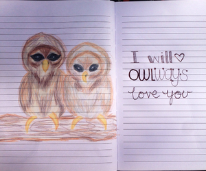 draw, drawing, and owl image