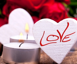 candle, red, and heart image