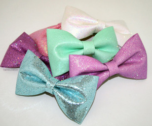 bows, colorful, and cute image