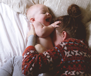 baby, smile, and family image