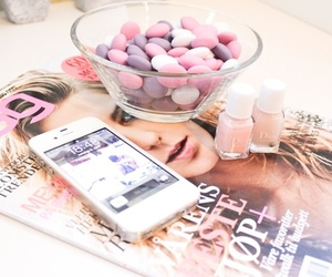 magazine, pink, and iphone image