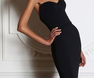 dress, black, and gown image