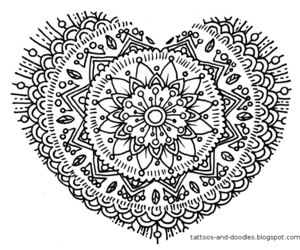 doodle, draw, and heart image