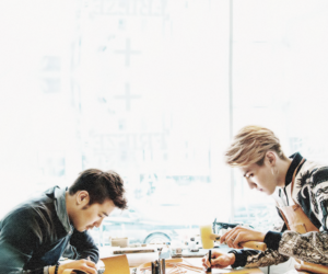 exo, leader, and kris image