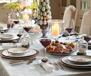 dinner, easter, and table image
