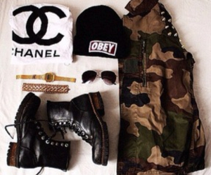chanel, fashion, and obey image