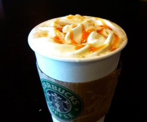 caramel, coffee, and frappucino image