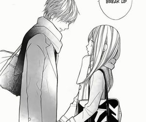 manga, shoujo, and break up image