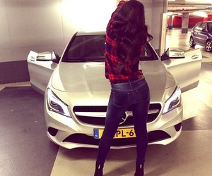 benz, fashion, and girl image