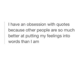 quote, feelings, and obsession image