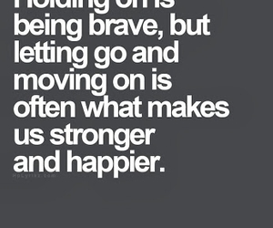 quote, strong, and brave image