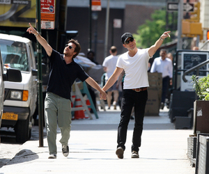 will arnett, holding hands, and jason bateman image