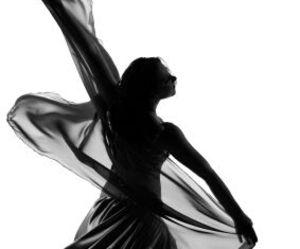 black and white, beautiful, and dance image
