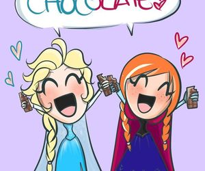 frozen, chocolate, and disney image
