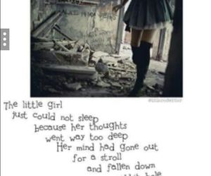 alice in wonderland, depression, and gone image