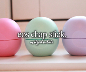 eos, pink, and chapstick image