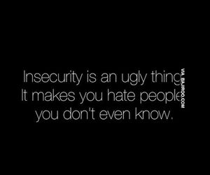 quote, hate, and insecurity image
