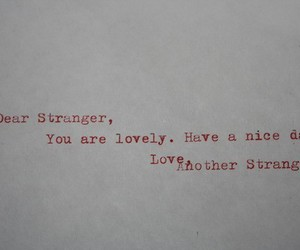 stranger and text image