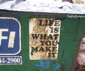 dumpster and life image