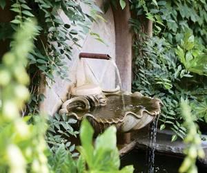 fountain and garden image