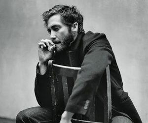jake gyllenhaal and black and white image