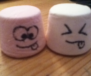 faces, marshmallows, and pink image