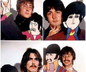 the beatles, yellow submarine, and george harrison image