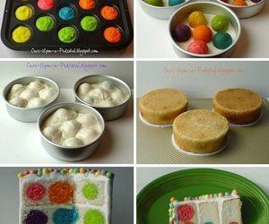 cake, diy, and polka dots image