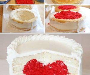 diy and heart shaped cake image