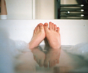 bath, bubbles, and feet image