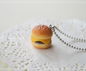 adorable, burger, and cheese image