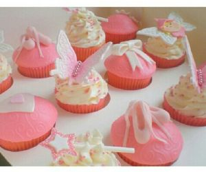 butterfly, cupcake, and pink image