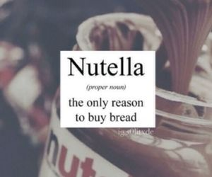 nutella, chocolate, and bread image