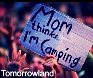 camping, mom, and concert image