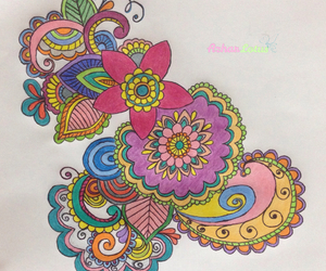color, doodle, and drawing image