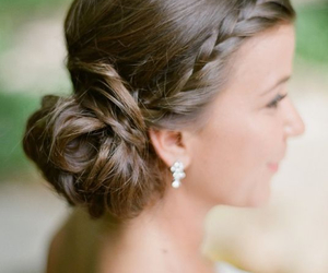 beautiful, coiffure, and wedding image