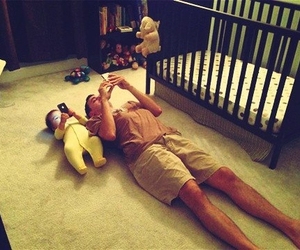 baby, dad, and great image
