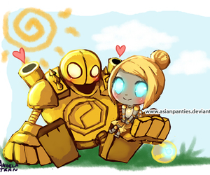 league of legends, orianna, and love image